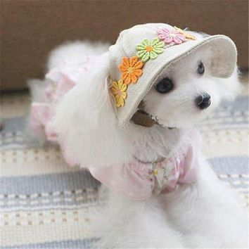 ESB1ON Pet Products Dog Hat Winter Summer Beach Hats For Dogs Costume Accessories Cute Pet Hat PT0943