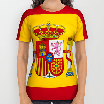 Flag of spain All Over Print Shirt by oldking