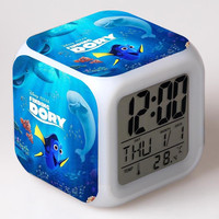 Finding Nemo/Dory Digital 7 Color Changing Alarm Clock Night Light Clocks