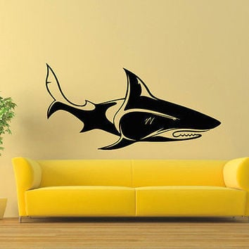 WALL DECAL VINYL STICKER ANIMAL PREDATOR SHARK SEA OCEAN DECOR SB828