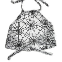 Caught in Spiderwebs Halter Top