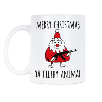 Merry Christmas Ya Filthy Animal Cup Funny Christmas Coffee Mugs