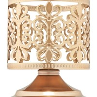3-Wick Candle Sleeve Champagne Scroll Pedestal