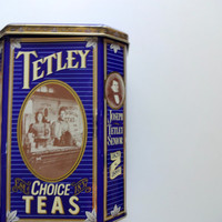 Vintage Tetley Tea Tin 1987
