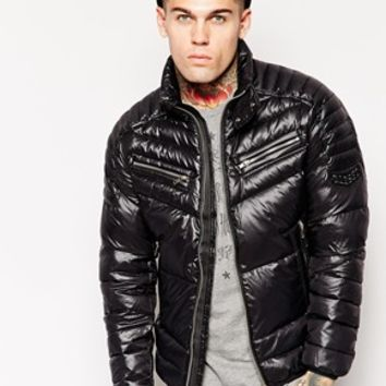 Diesel Wijay Jacket Shiny Padded Nylon