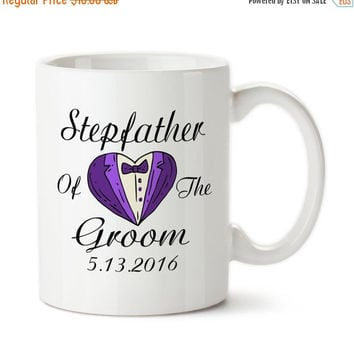 Coffee Mug, Stepfather Of The Groom, Personalized, Parent Of The Bride, Tuxedo, Gifts, Bridal Party Mug, Custom Gifts,
