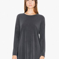 Brushed Jersey Side Slit Tunic | American Apparel