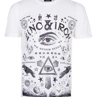 WHITE BURNOUT ZINC T-SHIRT - New In