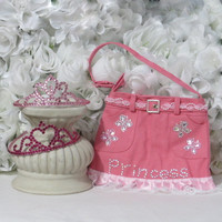Little Girl Purses - Princess Gifts Set - Girls Birthday - Girls Gifts - Childrens Accessories - Little Gifrls Gifts - Girls Accessories