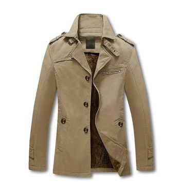 Solid Color Slim Fit England Trench Coat
