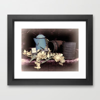 Soft Country Kitchen Framed Art Print by Photography By Pamela