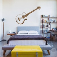 ik734 Wall Decal Sticker guitar music song artist notes chords bedroom teens