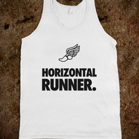 Horizontal Runner-Unisex White Tank