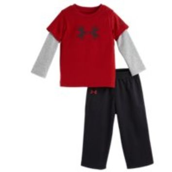 Under Armour Boys' Infant UA Antler Big Logo Long Sleeve 2-Piece Set