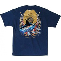 Guy Harvey Men's Law Enforcement Short Sleeve T-Shirt