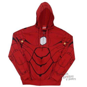 Iron Man My Iron Suit Costume Marvel Comics Zip Up Hoodie