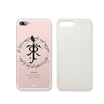 """Not All Those Who Wander Are Lost"" in Elvish Language Text Quote Clear Transparent Plastic Phone Case for Iphone 7_ SUPERTRAMPshop (iphone 7)"