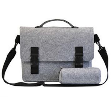 Men Women Notebook Bags For 15-Inch Laptop Travel Business,Hair Felt,Light Grey