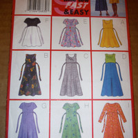 Sewing pattern Butterick 5362  6-8-10 Dress Dresses long short sleeve Aline A-line