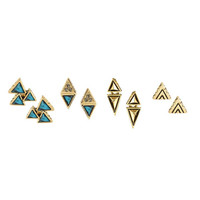 House of Harlow Tessellation Stud Earring Set