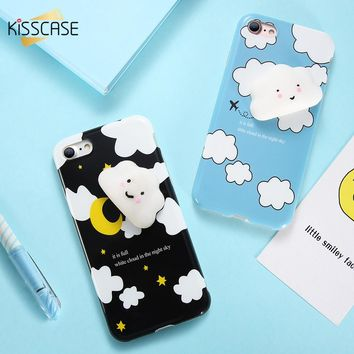 KISSCASE Cat Case For iPhone 6 7 8 plus Case Coque Cute Silicon Cartoon Cat Cases For iPhone 5 5S SE 3D Cartoon Cover Coque Capa