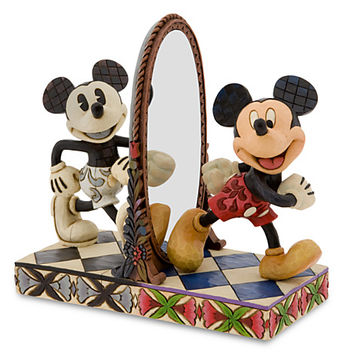 Disney Mickey Mouse ''Then and Now'' Figurine by Jim Shore | Disney Store