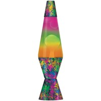 Lava Lite 2142 14.5-Inch Color Max Paintball Print Lava Lamp with Paintball Print Base, White Wax/Clear Liquid/Tri-Colored Globe