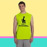 Downloading - funny Sleeveless T-shirt