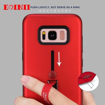 2017 EOINII new shock proof cover hybrid stent phone back coque for Samsung s7 edge s8 plus case cases mobile phone shell