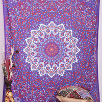 PSYCHEDELIC star mandala tapestry wall hanging hippie bohemian boho bedding bedspread cover ethnic home decor