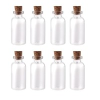 "Package of 24 Small Mini Glass Jars with Cork Stoppers - Size: 1-1/2"" Tall X 3/4 Inches Diameter:Amazon:Kitchen & Dining"