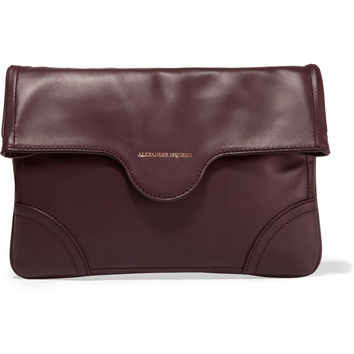 Leather clutch by Alexander Mcqueen