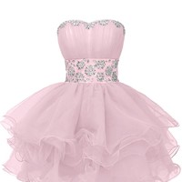 Sunavry Sweety Cocktail Pageant Dress Homecoming Prom Gowns Short