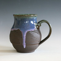 pottery Coffee Mug, handmade ceramic cup, tea cup, handthrown mug, ceramic stoneware pottery mug unique coffee mug ceramics and pottery