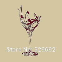 Wine Glass Kitchen Wall Sticker Home Decor For Kitchen Room Vinyl Art Decal Kitchen Wall Transfer Poster tx-146