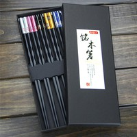 AOOSY 5 Pairs 9.9 inches Chinese Chopsticks Set High Temperature Resistant Fiberglass Chop sticks