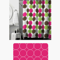 14-Piece Bathroom/Shower Curtain Set, Includes Memory Foam Bath Mat and Shower Curtain