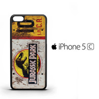 Jurassic Park Jeep License Plate 12 F0482 iPhone 5C Case