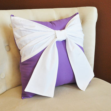 Lavender Bow Pillow