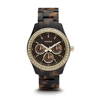 Fossil Stella Multifunction Tortoise Resin Watch ES2795