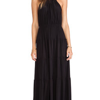 T-Bags LosAngeles Tiered Maxi Dress in Black