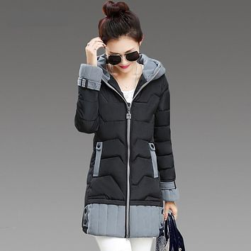 Long Womens Winter Jackets And Coats 2016 Thick Warm Women Parka Women's Winter Jacket Female Cotton Anorak Manteau Femme
