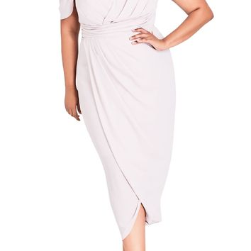 City Chic Entwine Cold Shoulder Maxi Dress (Plus Size) | Nordstrom