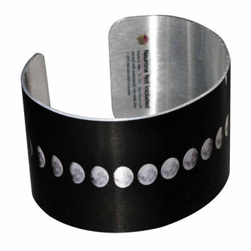 Phases of the Moon Wide Aluminum Geek Bracelet