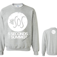 5 Seconds of Summer 5 SOS Sweater Inspired Crewneck.Australian band Calum Luke Michael Ashton 1D.Please visit 5SOS Shirt 5Sos TankTop