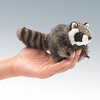 Folkmanis Puppet Mini Raccoon Item # 2646 NWT