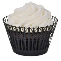 Wrought Iron Cupcake Wrapper - Cupcake Wrappers by Paper Orchid Stationery