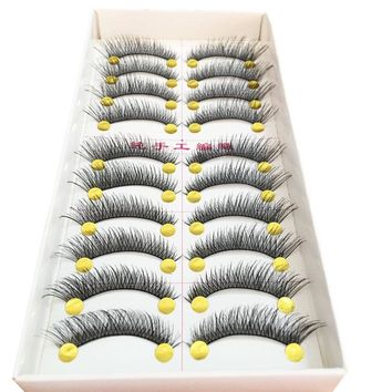 50 Pairs Cotton Stalk Handmade Eyelashes False Eye Lashes Extensions Tools Thick Long Fake Eyelashes For Building Makeup Tools