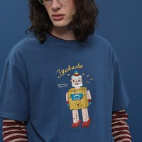 Tyakasha Toy Shop Unisex Blue Tee