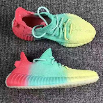 Adidas Yeezy Boost 350 V2 Rainbow 2018 Women Men Fashion Trending Running Sneakers